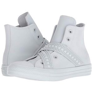 Converse High Top Sneakers Punk Stud Strap 8.5